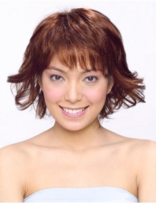 Sharon 全假髮 中長髮微翹假髮女 甜美仿真整頂假髮套微卷SRN-3046