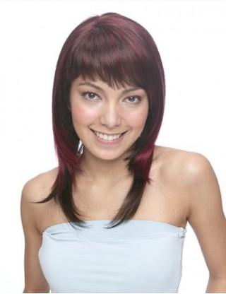 Pretty Sharon 全假髮 中長直髮自然卷假髮女 甜美仿真整頂假髮套微卷SRN-3001