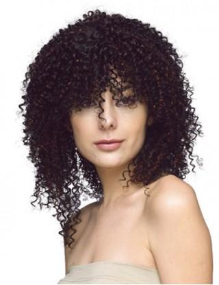 Pretty Sharon 全假髮 中長卷髮假髮 女士蓬松短髮 甜美可愛複古頭套 SRN-3039