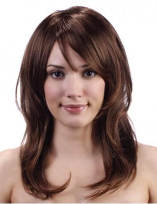 Pretty Sharon 全假髮 中長直髮自然卷假髮女 甜美仿真整頂假髮套微卷SRN-3054