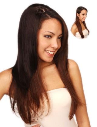 Lesalon 假髪片 女 時尚長直髪 接髪片 局部接髪髪飾假髪 61104