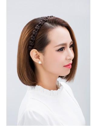 Lesalon 髪飾 麻花辮子髪繩 假髪髪圈 可愛假髪頭箍複古髪飾64405