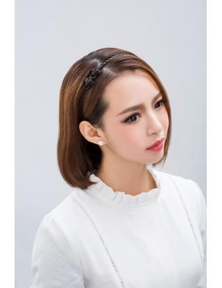 Lesalon 髪飾 麻花辮子髪繩 假髪髪圈 可愛假髪頭箍複古髪飾64406