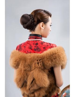 Lesalon 髪包 品牌假髪髪包 可愛女生盤髪頭飾 新娘造型時尚花苞髪髻64603
