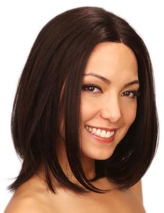 Lesalon 全假髪 氣質假髪女披肩中長直髪內扣蓬松短直髪手織高仿真髪中分直髪 71205