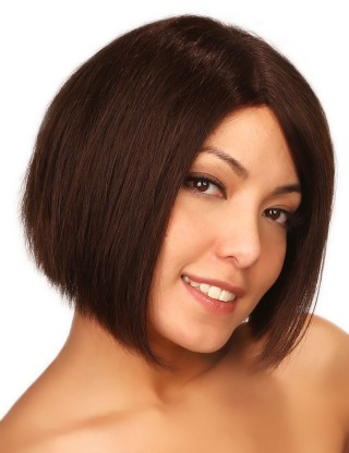 Lesalon 全假髪 手織高逼真頭皮前額線修臉中分劉海女生蓬松直髪 72403