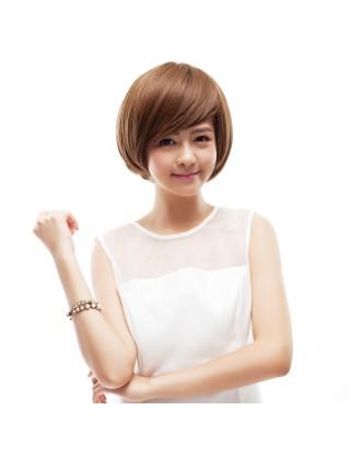Ebine 全假髮 整頂假髮套短直髮時尚女士氣質假髮媽媽斜劉海短bobo蓬松短髮EW102