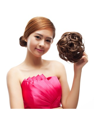 Ebine  髮包 假髮時尚髮包丸子頭髮飾蓬松假髮大花苞新娘盤髮韓式髮髻髮圈EW812
