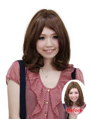 Wigs2you 劉海片 時尚女 修臉 新款斜劉海W-8110