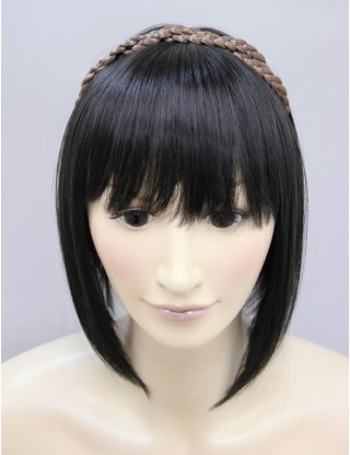 Wigs2you 髪飾 日本正品 麻花辮子髪繩假髪帶 雙層髪帶相交可愛假髪辮子 複古髪飾W-8210