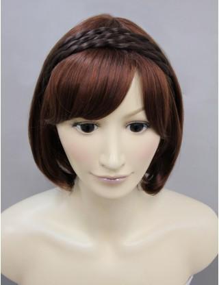Wigs2you 髪飾 日本正品麻花辮子髪繩 假髪髪圈 可愛假髪頭箍複古髪飾W-8214
